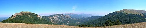 Вид с Малой Чучели, Большая Чучель, гора Черная, Чатырдаг, Бабуган-Яйла