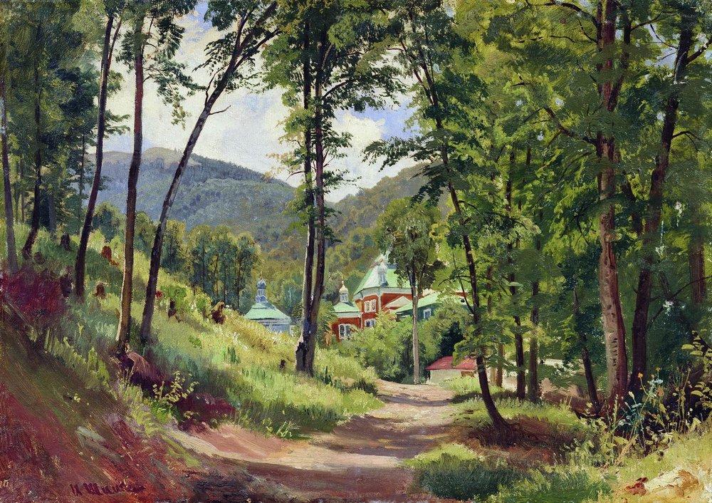Картина Шишкина. Козьмо-Демьяновский монастырь