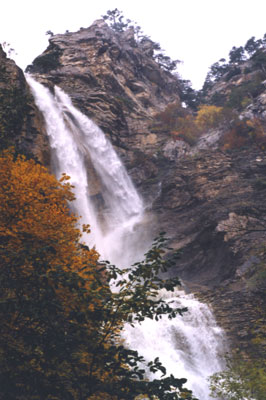 Верхняя часть водопада Учан-Су
