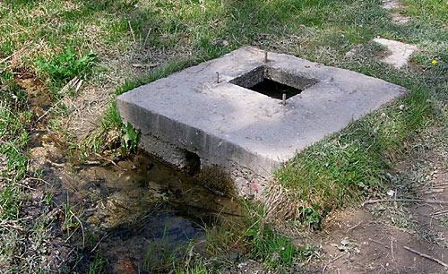 Оборудованный водозабор у турстоянки Баштановка