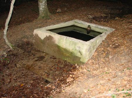 Ванночка (водосборник) у родника Бечку-Чесме