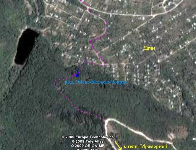Фото из космоса южной окраины села Краснолесья