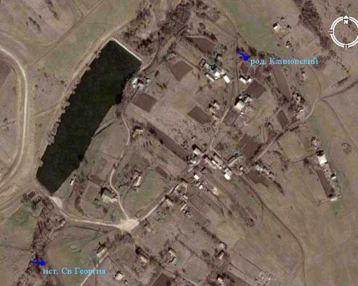 Фото из космоса села в Клиновке
