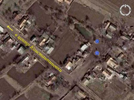 Фото из космоса части села Константиновки