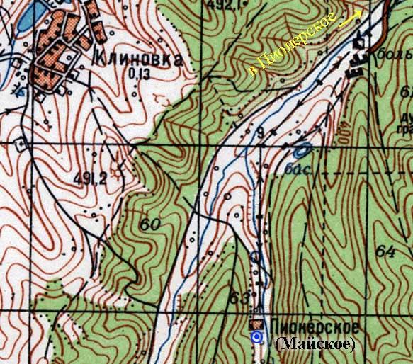 Фрагмент карты урочища Джалманчук