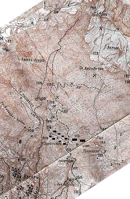 Фрагмент Пояснительной карты к путеводителю Григория Москвича