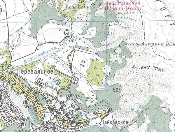 Карта района Перевального